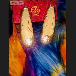 Tory Burch Rose Gold Reva Ballerina Flats